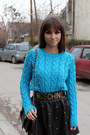 Blue-oasap-sweater-black-chicnova-bag-black-romwe-skirt