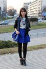 Blue-dressvenus-bag-blue-persunmall-top-silver-persunmall-skirt