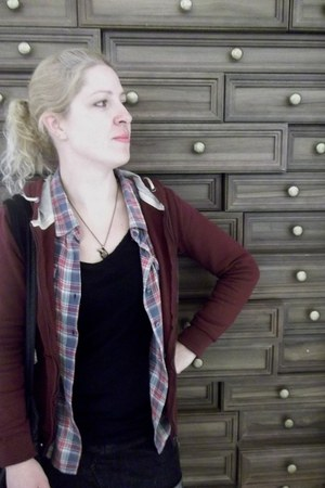 flanell - crimson CeA blouse