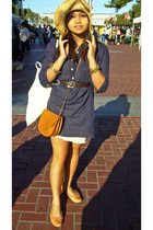 banana republic dress - vintage intimate - vintage purse - Anna Sui shoes