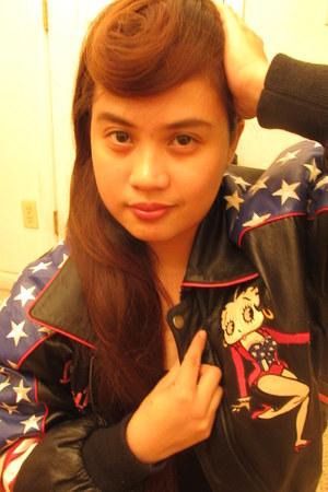 leather BettyBoop jacket
