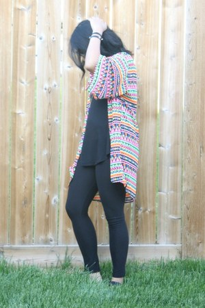 black Sweet Legs leggings - black Old Navy top - bubble gum H&M top