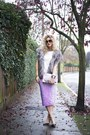 Heather-gray-fur-stole-miss-selfridge-scarf-white-sequinned-glamorous-t-shirt