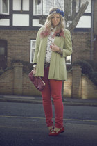 hot pink skinny jeans Primark jeans - chartreuse River Island coat