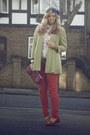 Chartreuse-river-island-coat-hot-pink-skinny-jeans-primark-jeans