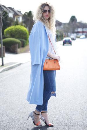 blue Primark jeans - sky blue duster jacket Primark jacket