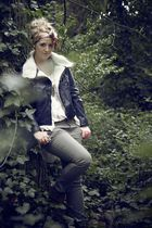 black H&M jacket - green Primark jeans - brown Primark boots - brown Ebay bag -