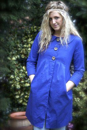 blue Primark coat - blue H&M jeans - pink H&M accessories