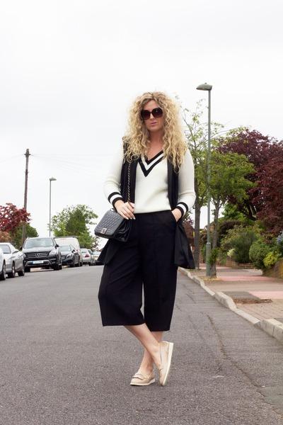 black River Island blazer - cream fringe loafers F&F shoes