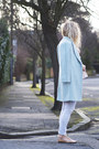 Light-blue-oasap-coat-heather-gray-river-island-jeans