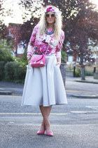 bubble gum dior Sheinside jumper - ivory H&M skirt - bubble gum Primark pumps