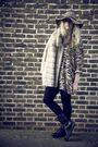 Brown-vintage-blouse-beige-vintage-coat-black-h-m-leggings-black-zara-boot