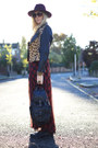 Black-biker-zara-boots-ruby-red-tartan-maxi-f-f-dress