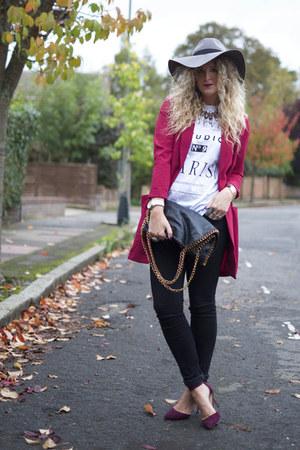 black Great plains jeans - heather gray fedora H&M hat