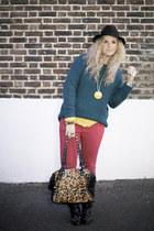 studded Market boots - Primark jeans - fedora Miss Selfridge hat
