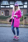 Hot-pink-oasap-coat-blue-asos-jeans-hot-pink-new-balance-sneakers