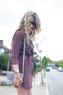 Brick-red-shirt-dress-primark-dress-sky-blue-boohoo-blazer