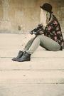 Black-h-m-blouse-black-market-boots-green-primark-jeans-black-primark-hat-
