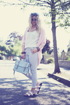 light blue satchel so in fashion bag - light blue Primark jeans