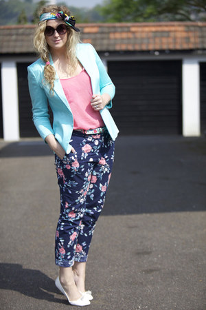 tesco blazer - Primark pants - Primark flats - Primark top