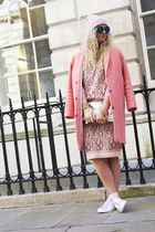 salmon boyfriend coat Topshop coat - bubble gum River Island jumper
