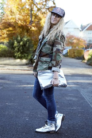silver asos boots - blue Primark jeans