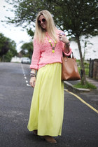 chartreuse maxi new look skirt - tan ankle Primark boots