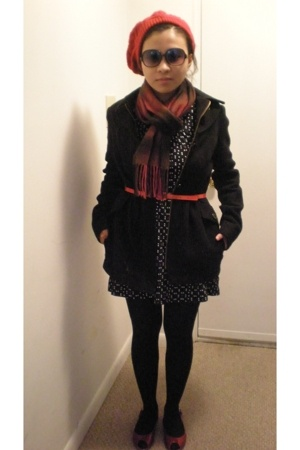 Nine West shoes - Nordstrom scarf - Billabong jacket