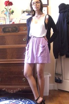 aa top - aa skirt - belt - Nine West shoes