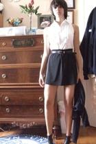 blouse - skirt - Nine West shoes