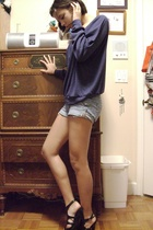 aa top - f21 shorts - Nine West shoes