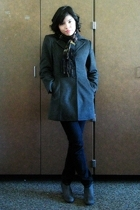 Anna Pashmina scarf - Amanda Smith coat - abercrombie and fitch jeans - boots