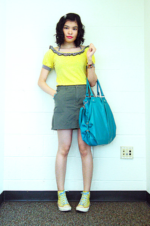 landmark top - SM surplus skirt - Converse shoes - Target accessories - bracelet