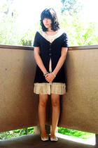 Secondhand sweater - Meteor Shower dress - Charlotte Russe shoes - bracelet - br