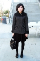 Billabong coat - H&M skirt - merona tights - Charlotte Russe shoes - etienne aig
