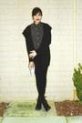 Black-combat-tillys-boots-black-cigarette-bcg-jeans-black-merona-cardigan
