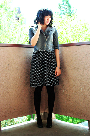 Zara jacket - merona dress - Target tights - thrifted shoes - divisoria bracelet