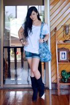 Wisdom shirt - Zara accessories - Zara shorts - Zara boots