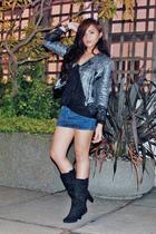 Topshop blazer - Gap top - Zara skirt - Zara boots