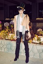 camel Topshop sweater - black Gap jeans - dark brown Topshop bag - black Zara bo