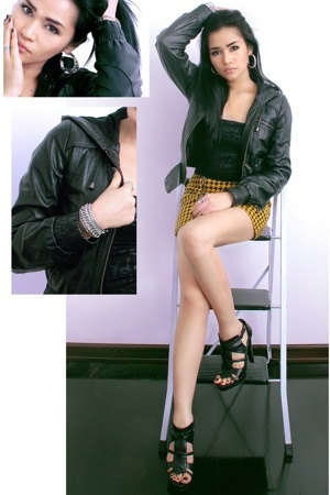 Topshop jacket - H&M skirt - Zara shoes