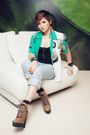 Hiker-boots-topshop-boots-boyfriend-jeans-h-m-jeans-thrifted-vintage-blouse
