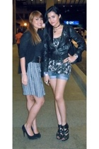 Topshop jacket - Zara top - Zara shorts - Topshop shoes - Ciege Cagalawan access