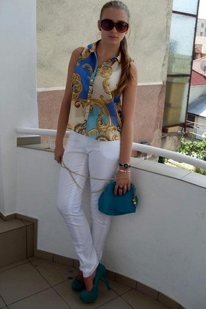 Mango top - H&M purse - Chanel sunglasses - calvin klein watch