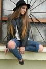 Gray-leather-shoes-navy-h-m-jeans-black-h-m-hat-black-asos-jacket