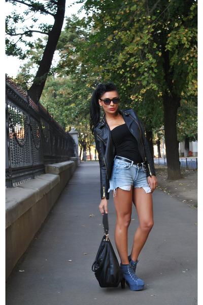 BBup boots - Stradivarius jacket - Newlook bag - H&M shorts