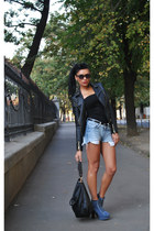 BBup boots - Stradivarius jacket - Newlook bag - H&M shorts