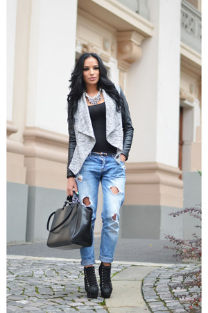 new look jacket - Zara jeans - Zara bag - Zara necklace