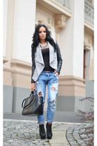 new look jacket - Zara jeans - Zara bag - Zara necklace