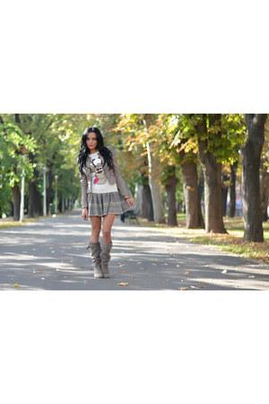 Orsay jacket - pull&bear skirt - Terranova blouse